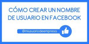 Cómo crear un nombre de usuario en Facebook